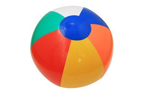 Aufblasbare Kunststoff Childs Strand Ball isoliert auf weiss