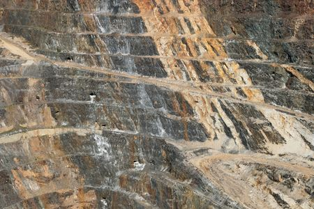 side of the Homestake open pit mine in Lead, South Dakota