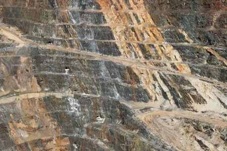 open pit: side of the Homestake open pit mine in Lead, South Dakota