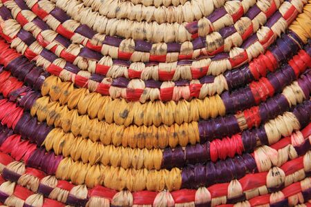 colorful but well used african basketry cooling pad detail Stock Photo - 6107547