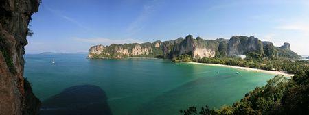 Rai Lay beach peninsula from thaiwand wall, Krabi, Thailand