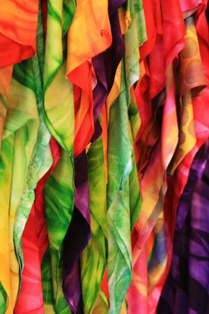 colorful cloth for sale in a Malaysian market Stock Photo - 6805388