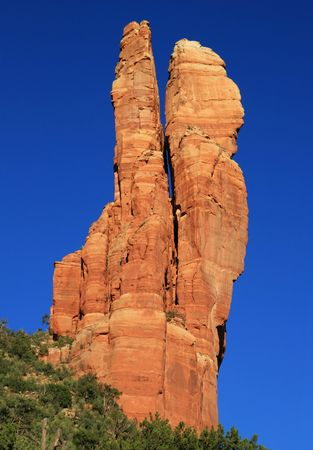 Oak Creek Spire, a sandstone spire near Sedona, Arizona, also known as the rabbit ears Stock Photo - 7034920