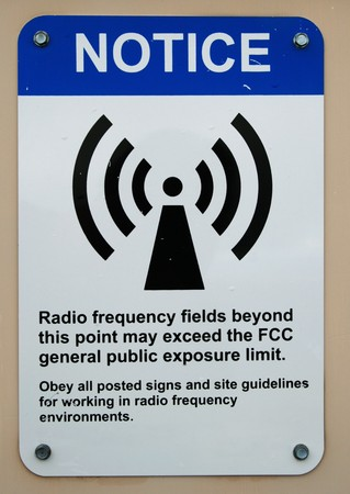 posted: radio frequency fields warning sign
