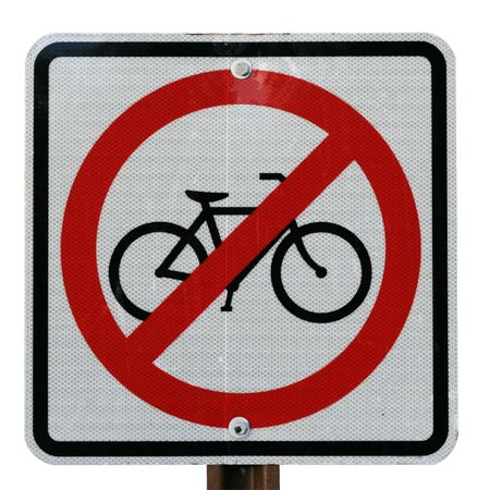 no bicycle sign isolated on a white background Stock Photo - 7113379