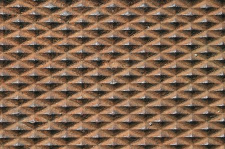 non skid: old rusty diamond textured metal background texture