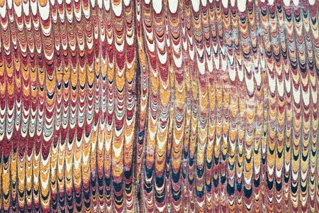 marbled: vintage combed marbled paper detail with vertically streaked color bands Stock Photo