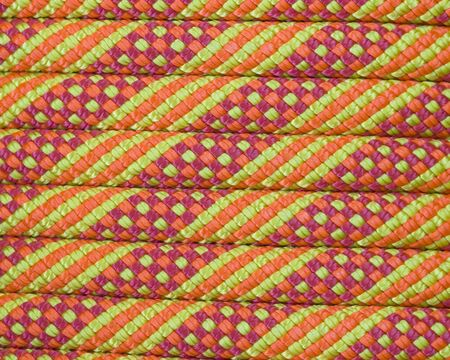 macro of a new orange yellow and red climbing rope Stock Photo - 7247799