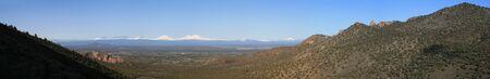 cascade range: panorama of the central Oregon Cascade mountains from Gray Butte
