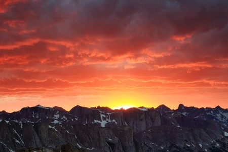 mountain sunset in the wind river range of Wyoming Stock Photo - 7785220