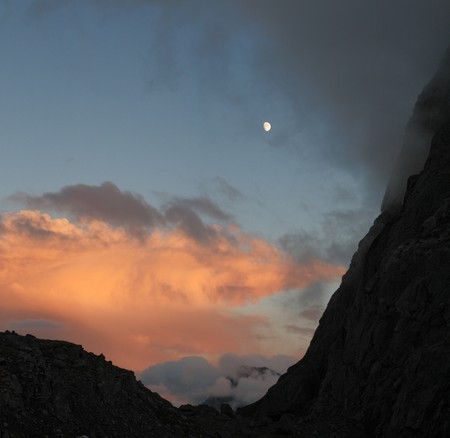 jackass: Jackass Pass in the Wind River Mountains in the evening