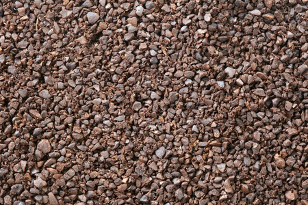 chocolate nibs or crushed cocoa bean seed background Stock Photo
