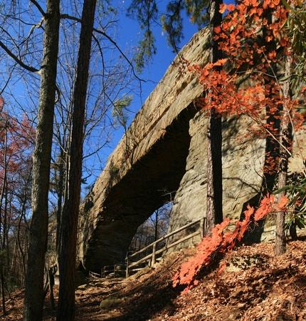 natural bridge state park: natural bridge rock arch in Natural Bridge State Park in Kentucky