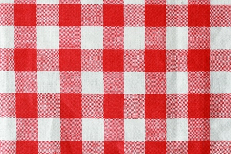 red and white checked tablecloth background texture photo