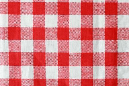 rode en witte gecontroleerd tablecloth achtergrond structuur Stockfoto