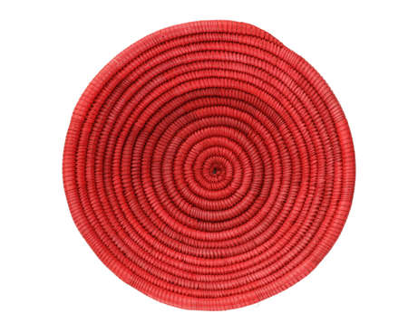 red spiral African basket isolated on white Stock Photo - 8551050