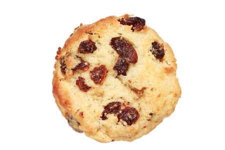 toasted raisin scone isolated on white background Stock Photo - 8597855