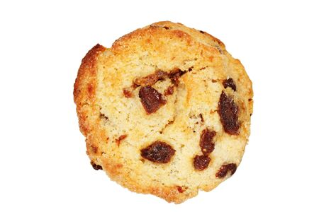 baked raisin scone isolated on white background Stock Photo - 8721209