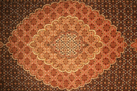 brown and red persian carpet background texture Stok Fotoğraf