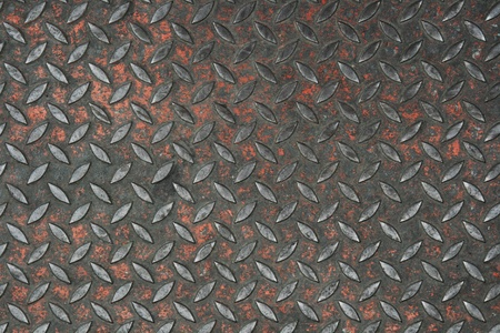 old non-skid metal painted diamond plate background texture photo