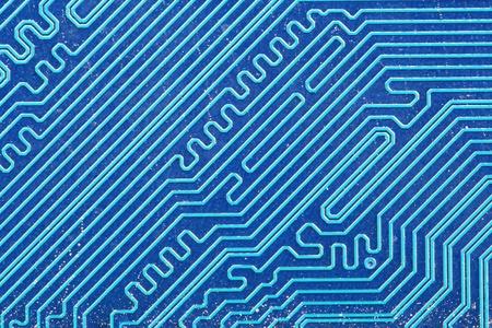 immagine di blu elettrico circuito stampato scheda sfondo macro