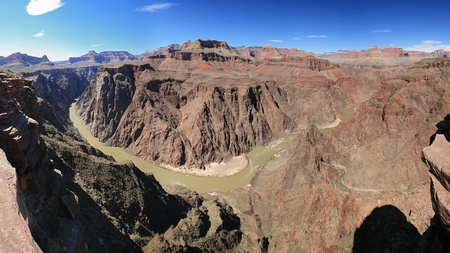 Grand Canyon panorama from Plateau Point over the Colorado River Stock Photo - 9273063
