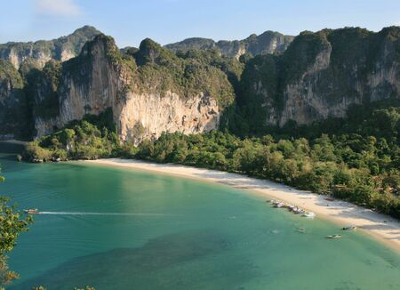 railey: Rai Lay west beach da parete thaiwand Archivio Fotografico