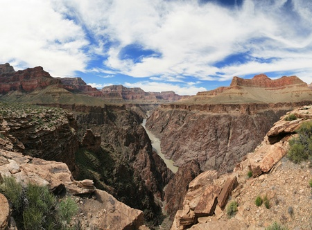 Grand Canyon panorama from the Tonto Platform over the Colorado River Stock Photo - 9379582