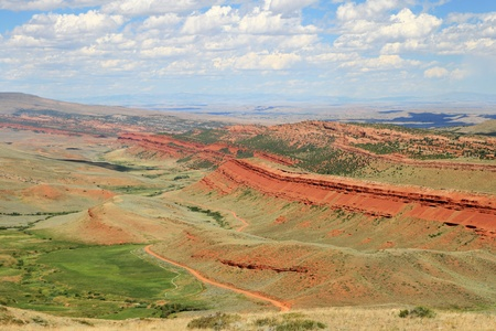 overlook: Red Canyon overlook in Fremont County Wyoming Stock Photo