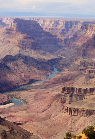 Grand Canyon Colorado River view from Desert Point overlook Stock Photo - 9533156