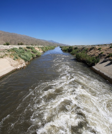 The start of the Los Angeles Aqueduct where the water comes from the Owens River Stock Photo - 9771527