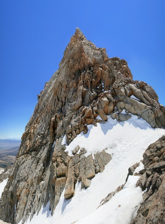 mount humphreys: The 13986 foot Humphreys Peak summit in the Sierra Nevada mountains of California Stock Photo