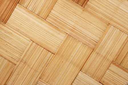 diagonal woven bamboo strips for background texture Stock Photo - 9948380