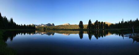 reflection in the Tuolumne River in Yosemite Stock Photo - 10496255