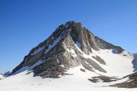 Merriam Peak north buttress on this  13103 foot peak in the Sierra Nevada Mountains of California Stock Photo - 10515656