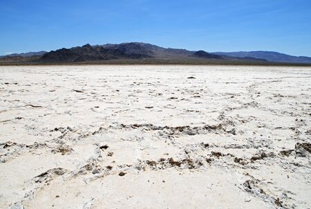 Bristol dry lake bed salt pan in the Mojave Desert of California Stock Photo