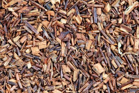 macro image of rooibos red tea leaves and bark Stock Photo - 10669851