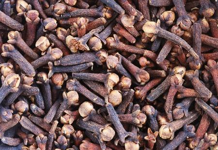 macro beeld van kruidnagels gedroogd bloemknoppen gebruikt als specerij