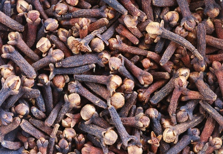 macro image of cloves dried flower buds used as a spice