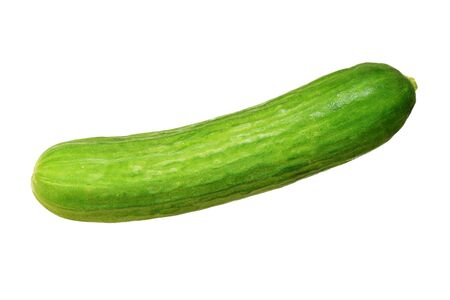 persian green: green persian cucumber isolated on white background Stock Photo