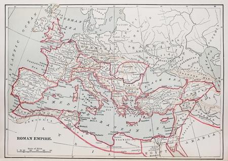 1894 책에서 역사적인 로마 제국지도 스톡 콘텐츠