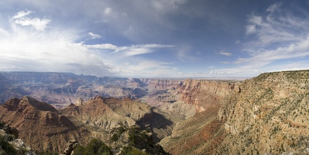 Grand Canyon panorama from the Navajo Point on the south rim Stock Photo - 11277415