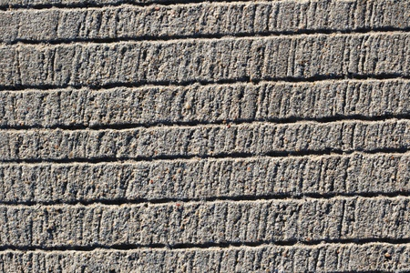traction: textured concrete background with horizontal grooves to increase traction Stock Photo