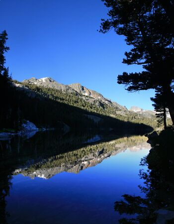 Reflection in Shadow Lake in the Sierra Nevada of California Stock Photo - 11454319