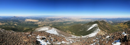 mount humphreys: panorama from the summit of Mount Humphreys, the highest point in Arizona Stock Photo