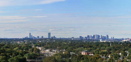 boston skyline: panorama of the Boston skyline from Quincy Quarries to the south