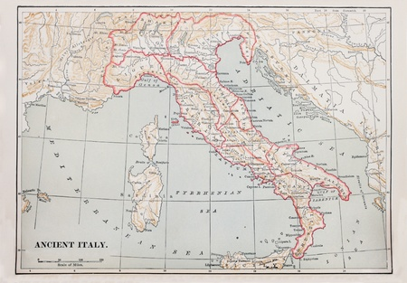 map of ancient Italy from 1896 book Stock Photo - 11729150