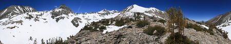 sierras: panorama of the Gable basin in the spring in the Sierra Nevada mountains