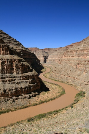 San Juan River flowing through the canyon in Southern Utah Stock Photo - 11928919