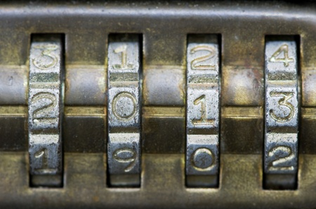 twenty thirteen: brass combination lock with the number set to 2013
